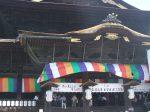 堂々たる善光寺の本堂